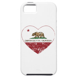 california flag canyon country heart distressed iPhone 5 cover