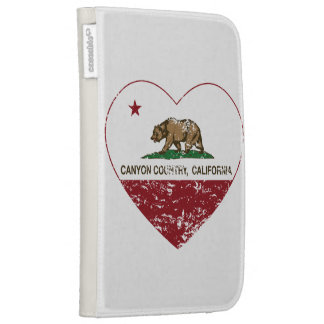 california flag canyon country heart distressed kindle case