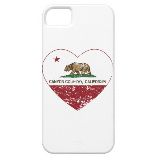 california flag canyon country heart distressed iPhone 5/5S covers