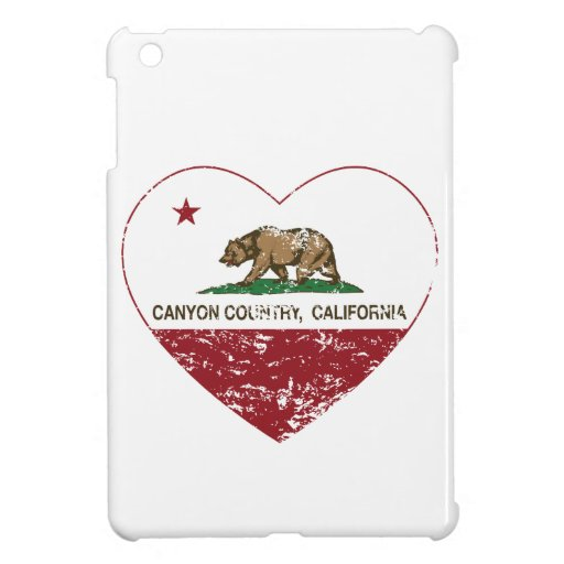 california flag canyon country heart distressed iPad mini cases