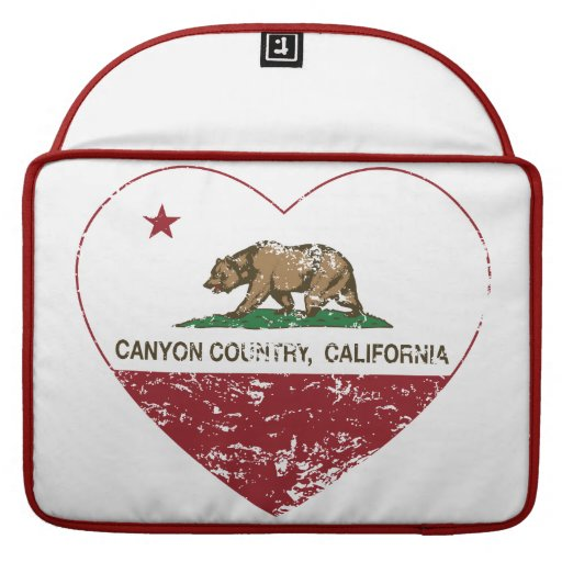 california flag canyon country heart distressed sleeves for MacBook pro