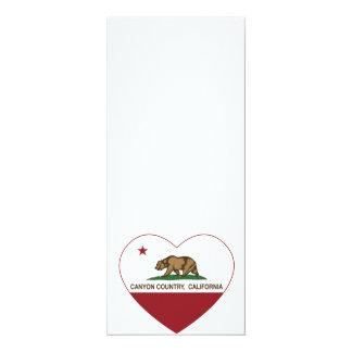 california flag canyon country heart 10 cm x 24 cm invitation card