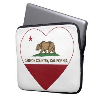 california flag canyon country heart laptop computer sleeve