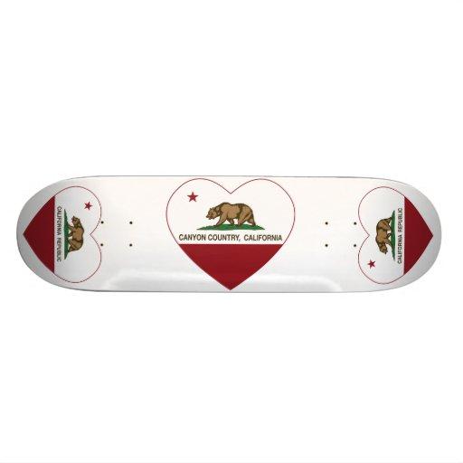 california flag canyon country heart skate board deck