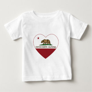 california flag canyon country heart t shirt
