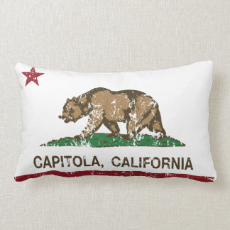 california flag capitola distressed pillows