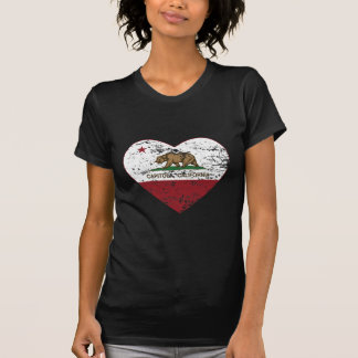 california flag capitola heart distressed T-Shirt