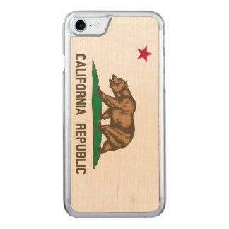California Flag Carved iPhone 7 Case