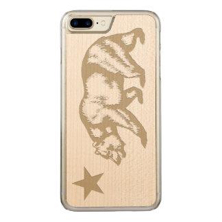 California Flag Carved iPhone 7 Plus Case