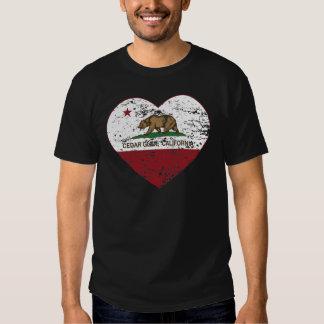 california flag cedar glen heart distressed t shirt