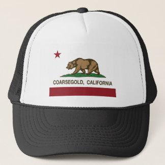 california flag coarsegold trucker hat