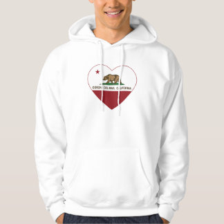 california flag corona del mar heart hoodie