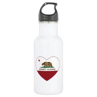 california flag crockett heart 532 ml water bottle