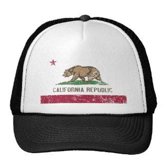 California Flag Distressed Cap
