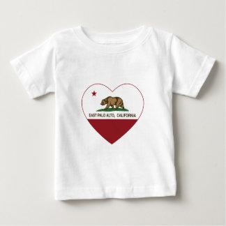 california flag east palo alto heart t shirt