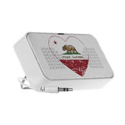 california flag folsom heart distressed notebook speaker