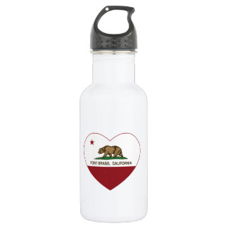 california flag fort bragg heart 532 ml water bottle