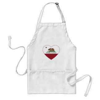 california flag freedom heart aprons