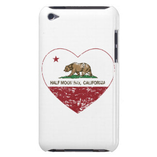 california flag half moon bay heart distressed barely there iPod covers
