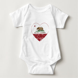 california flag hollister heart distressed baby bodysuit