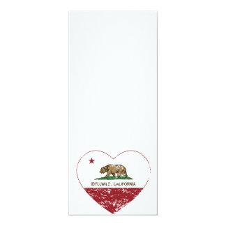 california flag idyllwild heart distressed card