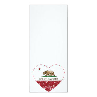 california flag king city heart distressed personalized invite