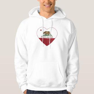 california flag king city heart hoodie