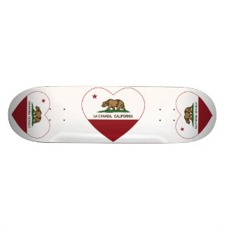california flag la canada heart custom skateboard