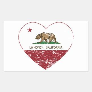 california flag la honda heart distressed sticker