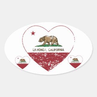 california flag la honda heart distressed stickers