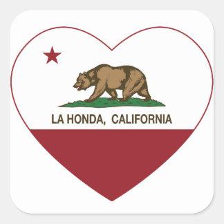 california flag la honda heart stickers