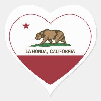 california flag la honda heart heart stickers