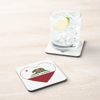 california flag lewiston heart beverage coasters