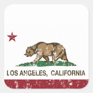 california flag los angeles distressed sticker