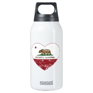 california flag los gatos heart distressed 0.3 litre insulated SIGG thermos water bottle