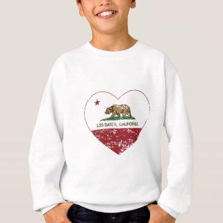 california flag los gatos heart distressed sweatshirt