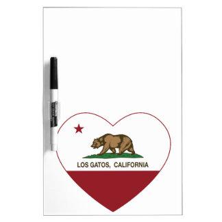 california flag los gatos heart dry erase white board