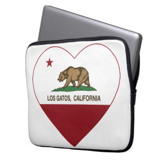 california flag los gatos heart laptop computer sleeve