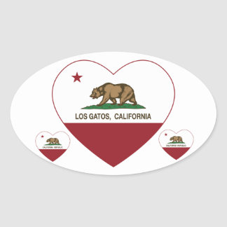california flag los gatos heart stickers