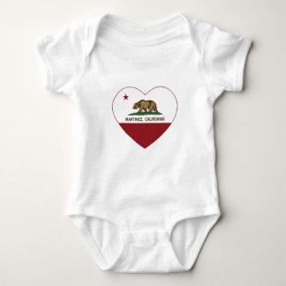 california flag martinez heart baby bodysuit