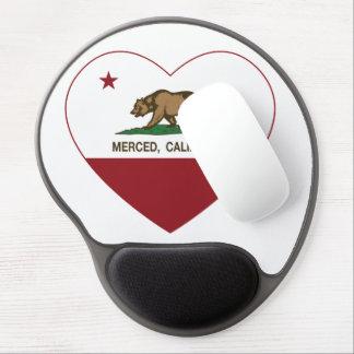 california flag merced heart gel mouse pad