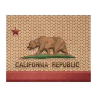 California Flag Metal Faux Cork Paper Prints