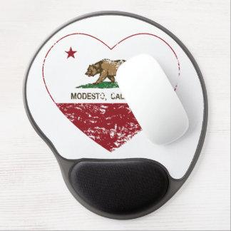california flag modesto heart distressed gel mouse pad