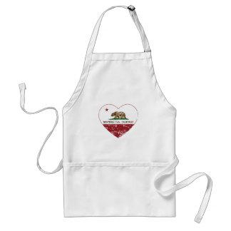 california flag monterey park heart distressed aprons