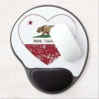 california flag napa heart distressed gel mouse pad