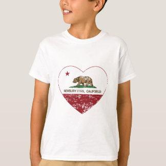 california flag newbury park heart distressed T-Shirt