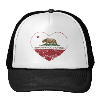 california flag newport beach heart distressed cap