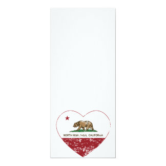 california flag north highlands heart distressed personalized invitation