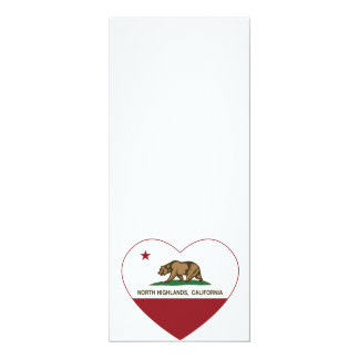 california flag north highlands heart custom invite