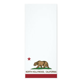 california flag north hollywood 10 cm x 24 cm invitation card